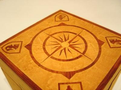Hidden Treasure Box - Inlaid Wood Box With Hidden Compartment