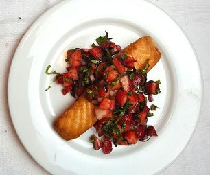 Crispy Salmon With Strawberry Basil Salsa (in Less Than 20 Minutes)