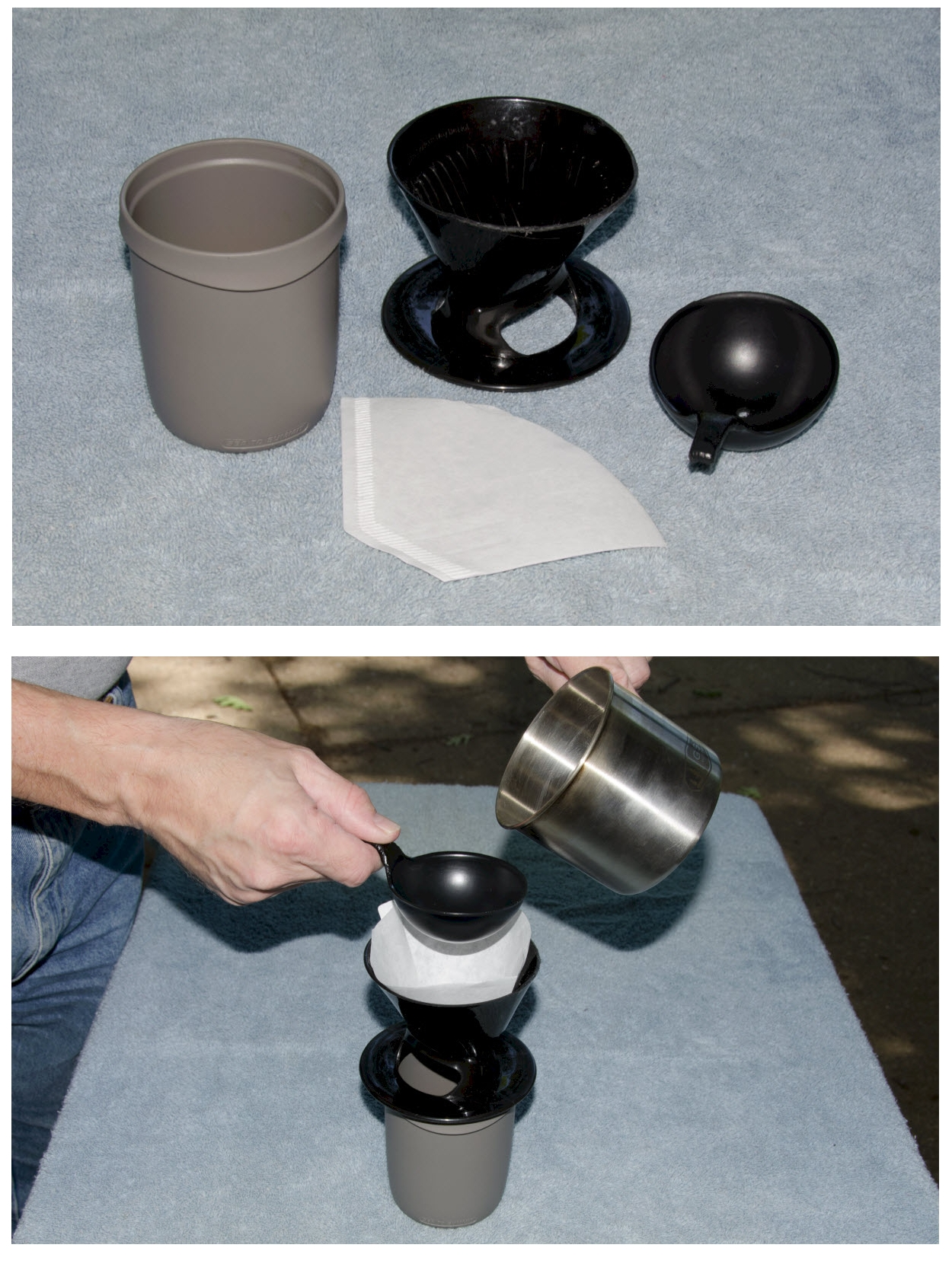 Picture of Filtering the Coffee
