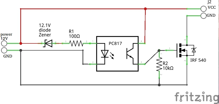 Picture of Building/soldering the Battery Guard From Electric Diagram