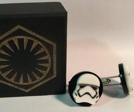 First Order Stormtrooper Cuff Links.