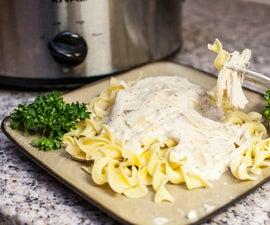 Creamy White Wine Crock Pot Chicken