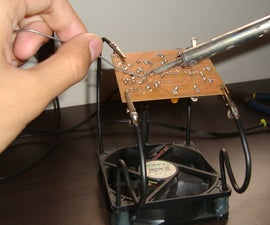 Yet another third-hand soldering aid. [with built-in fume extractor]