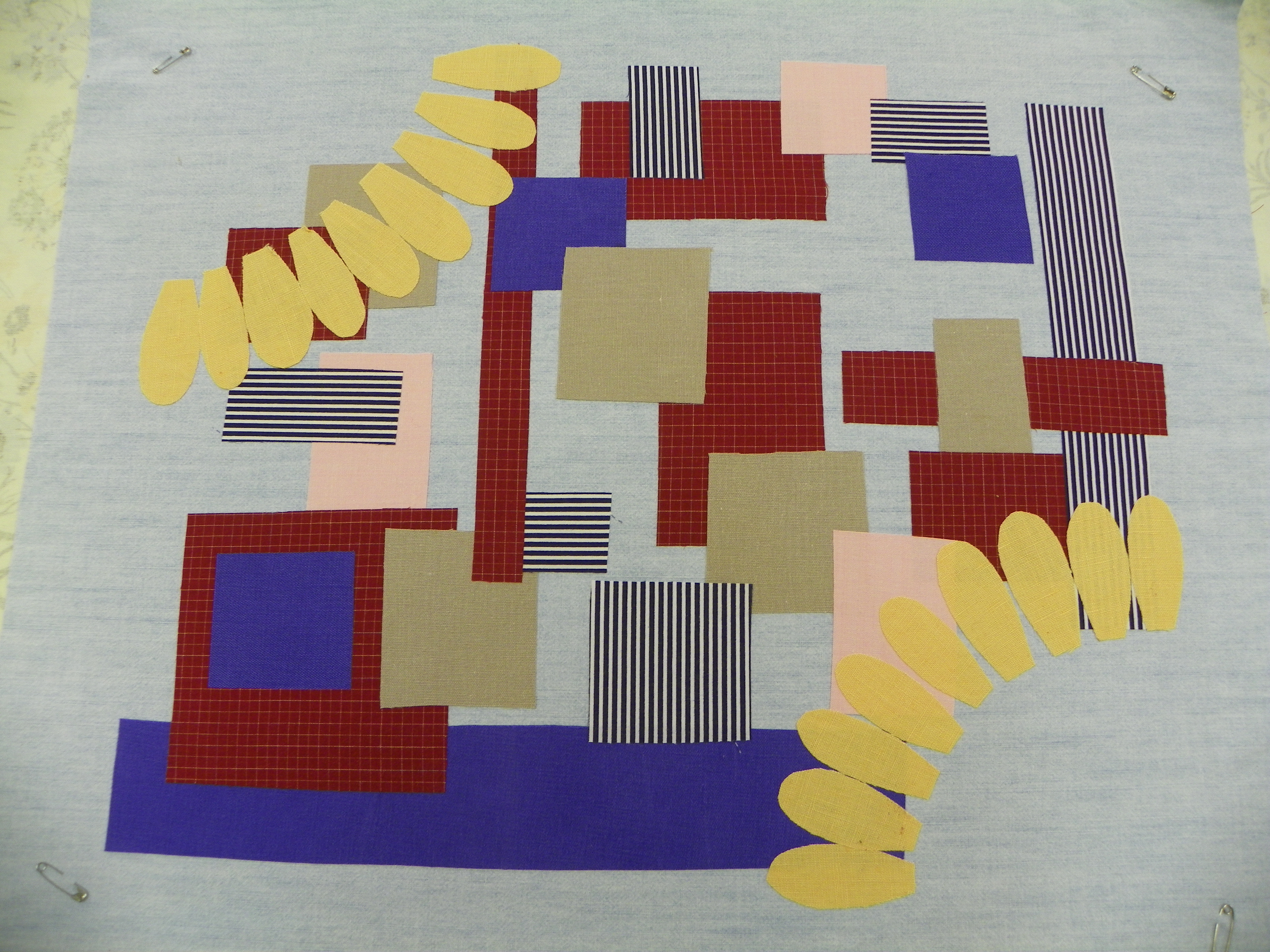 Picture of Ironing the Pieces to the Background