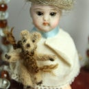 Teeny Tiny Teddy Bear for a Dolls' House Doll
