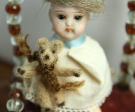Teeny Tiny Teddy Bear for a Dolls' House Doll