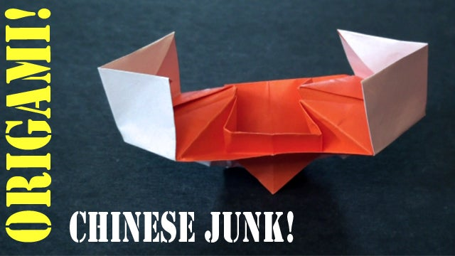 Chinese Junk Boat Origami Tutorial