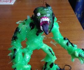DIY Slime monster toy