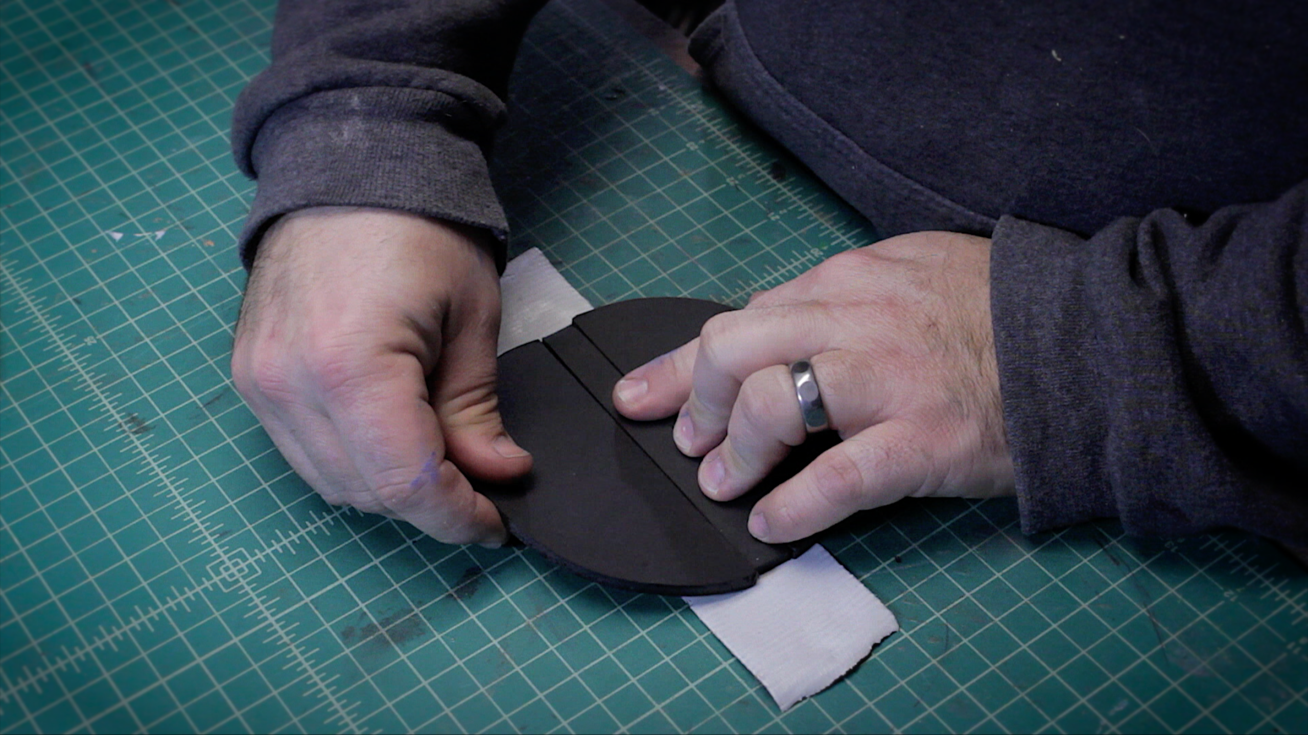 Picture of Working on the Mouth Plate