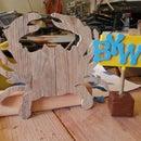 Rustic Crab - reclaimed pallet wood