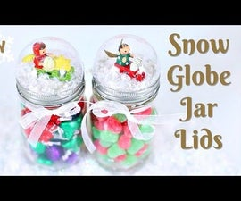 DIY SNOW GLOBE JAR LIDS