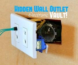 Hidden Wall Outlet Safe (w/Arduino Lock)