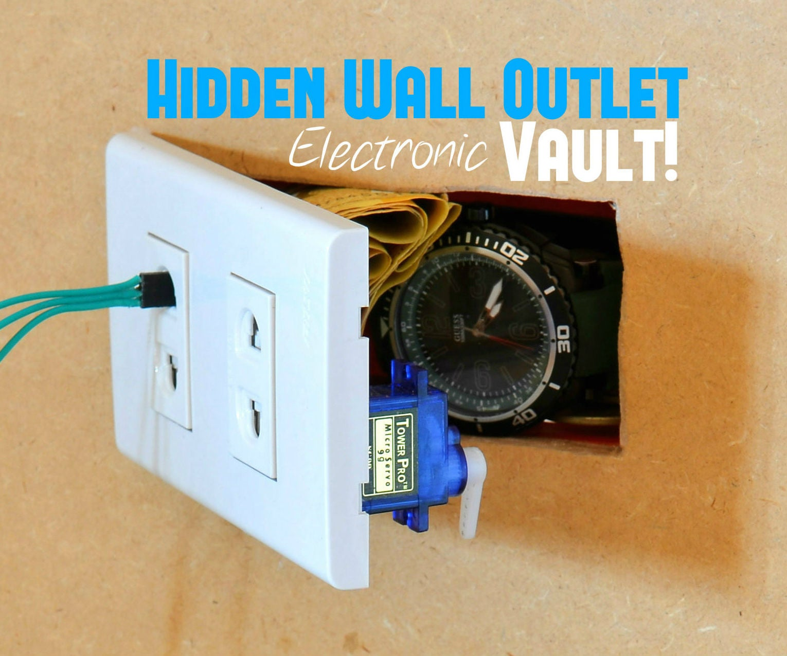 Hidden Wall Outlet Safe W Arduino Lock 9 Steps With Pictures Wiring Electrical Outlets