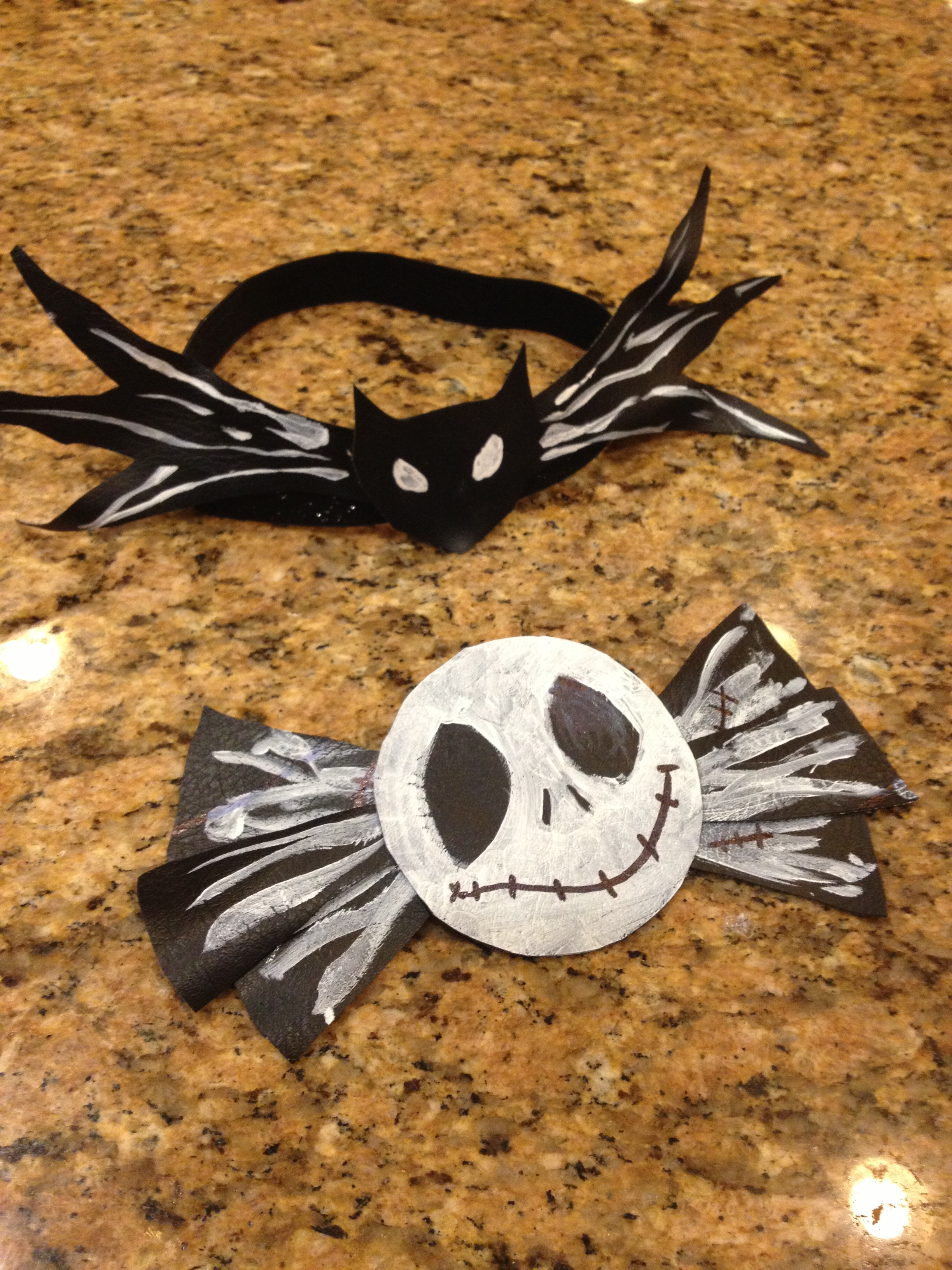 Picture of Nightmare Before Christmas Hair Bow and Bow Tie