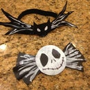 Nightmare Before Christmas Hair bow and Bow tie
