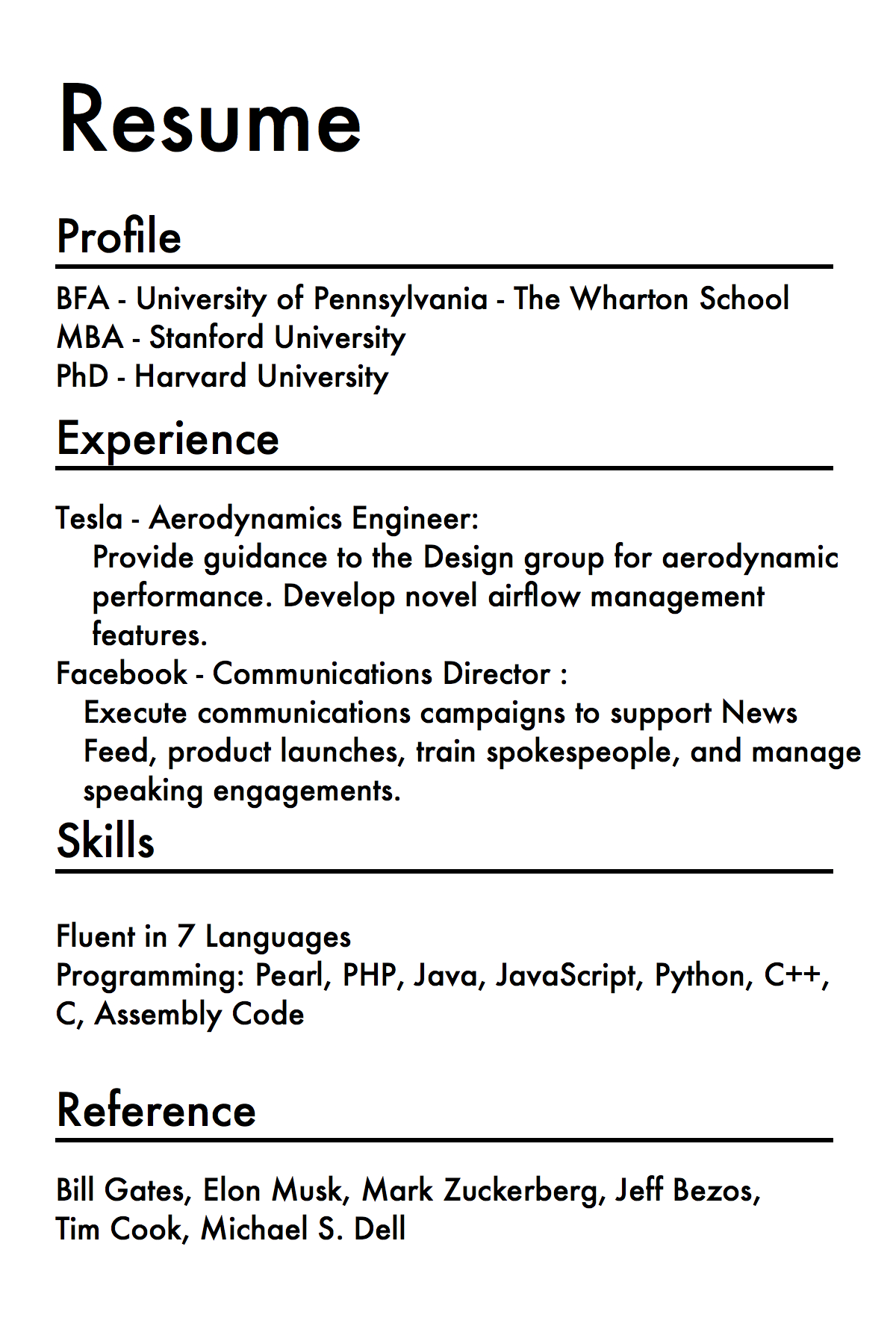 Picture of Generate Your Resume