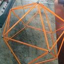 Domo Geodésico Com Imãs E Tubos Plásticos