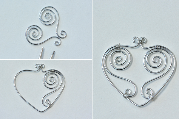 Picture of Make the Basic Wire Heart Pattern