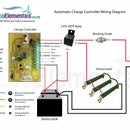 Charge Controller wiring diagram for DIY Wind turbine or Solar panels