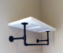 DIY Shelf From Reclaimed Door