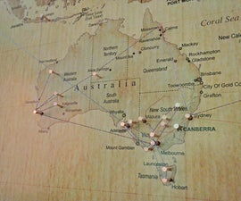 Decorative World Travel Map