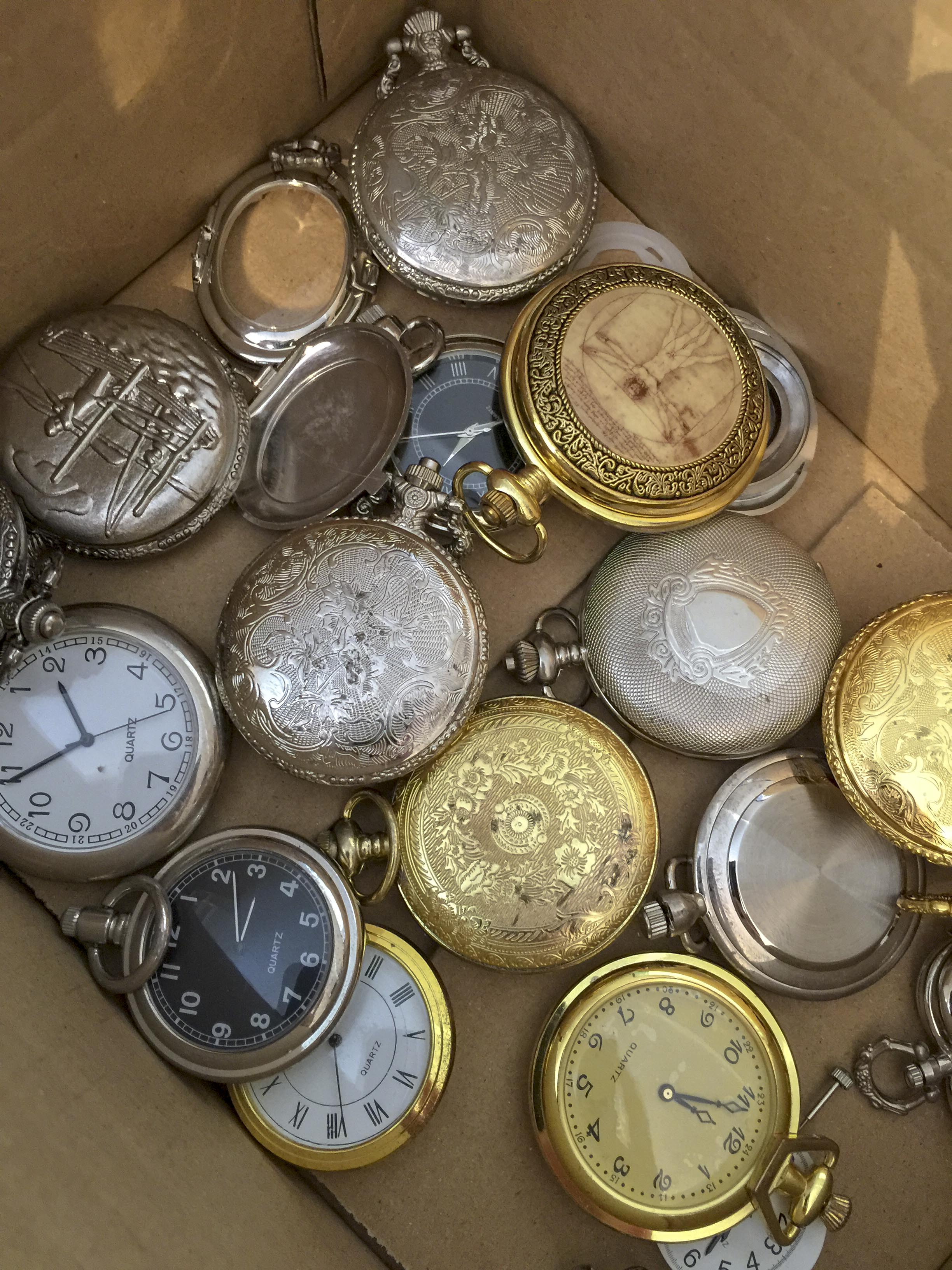 Picture of Dismantling the Old Pocket Watches.