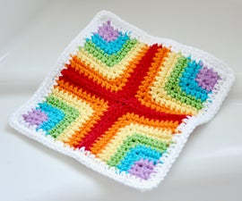 Pieced Crochet Dishcloth/Washcloth