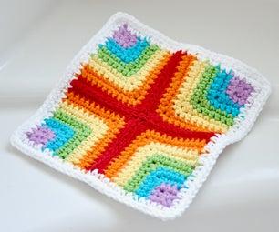 Pieced Crochet Dishcloth/Washcloth