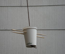 Hanging Bird Feeder ( from a coffee cup)