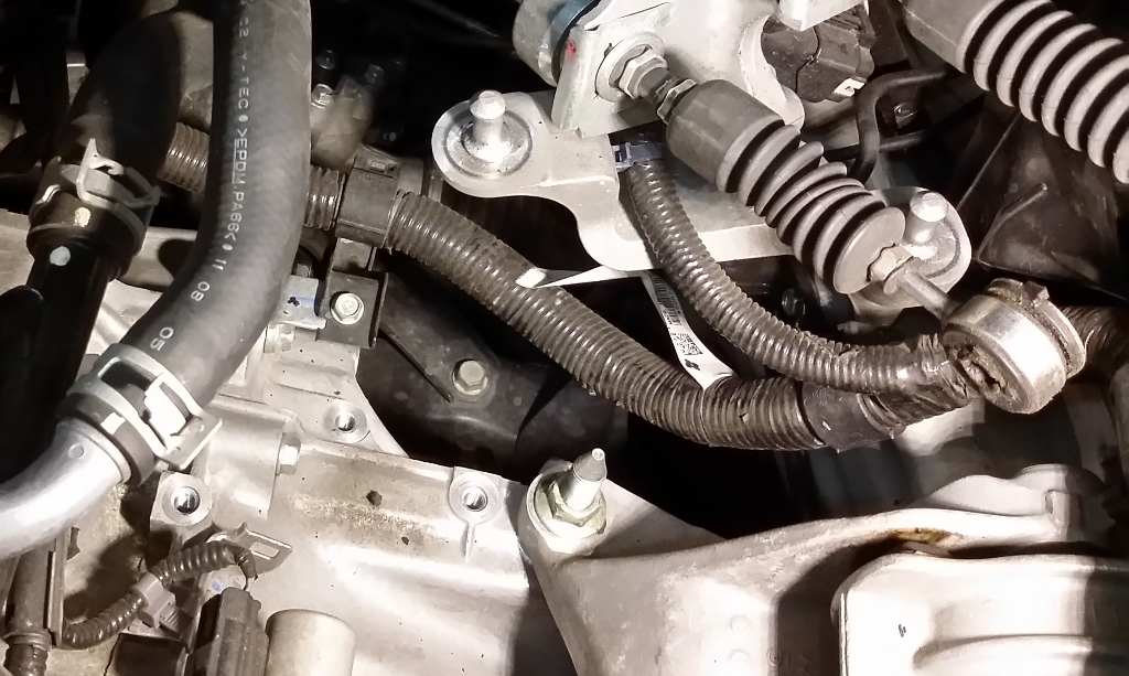 Picture of Disconnect the Shifter, Sensors, and Harness From Transmission