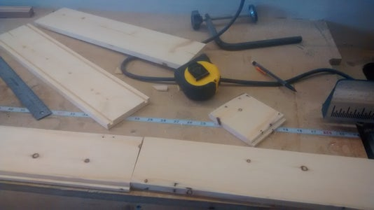 Rabbet and Dado Sides, Cut and Rabbet End Pieces.
