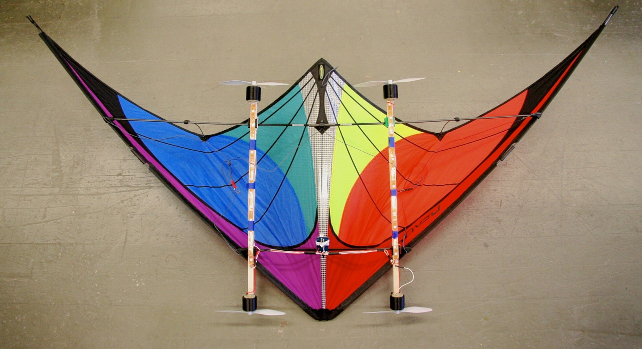 Picture of Kite With Wind-Powered LEDs