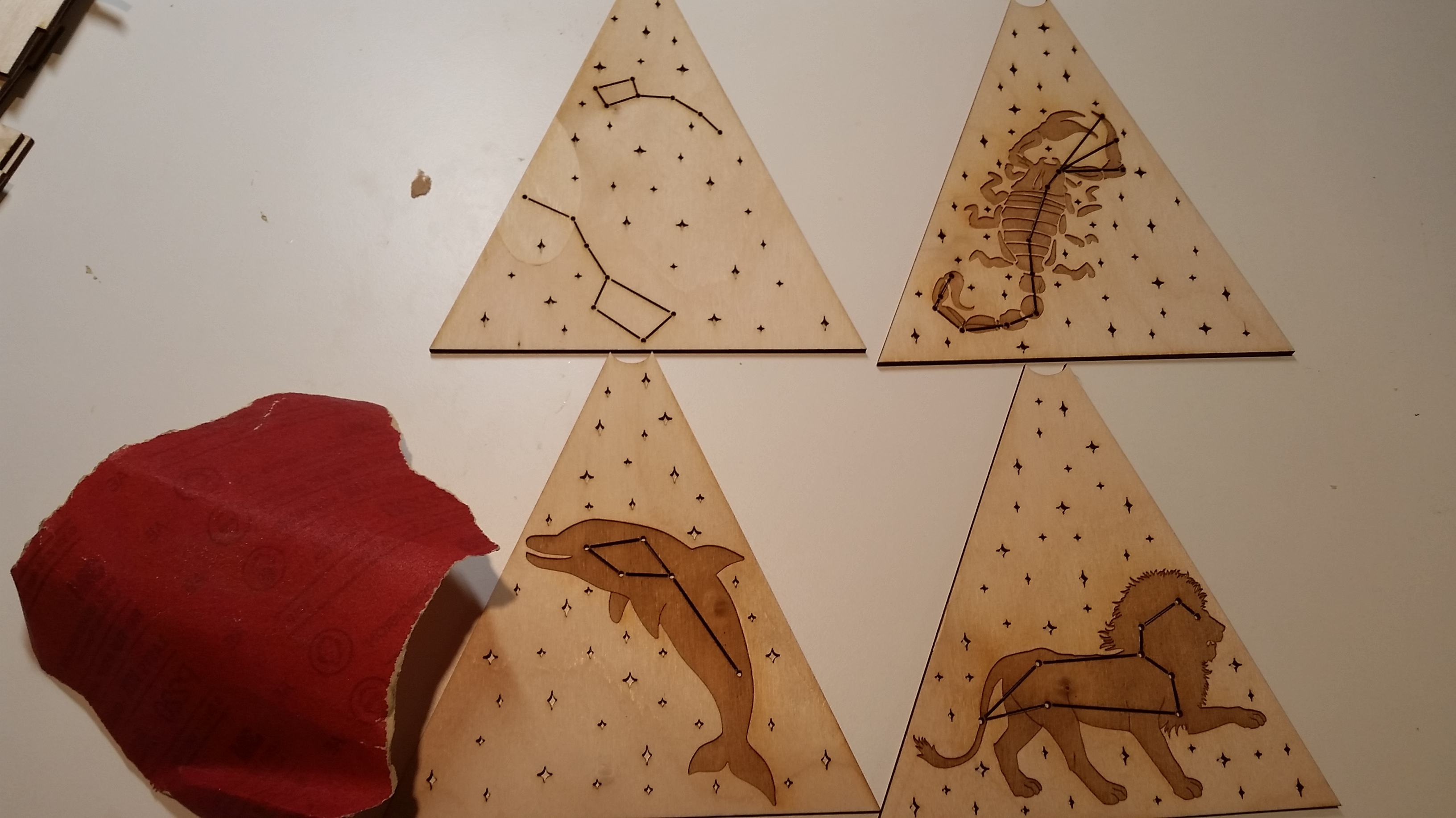 Picture of Laser Cut, Sand, and Stain