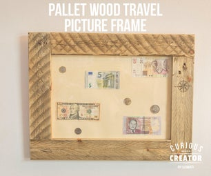 Pallet Wood Picture Frame - Travel Inspired