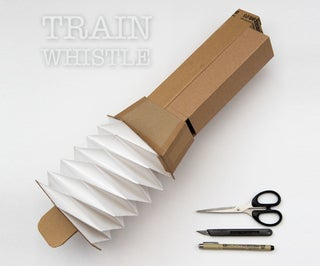 Train Whistle From Corrugated Card