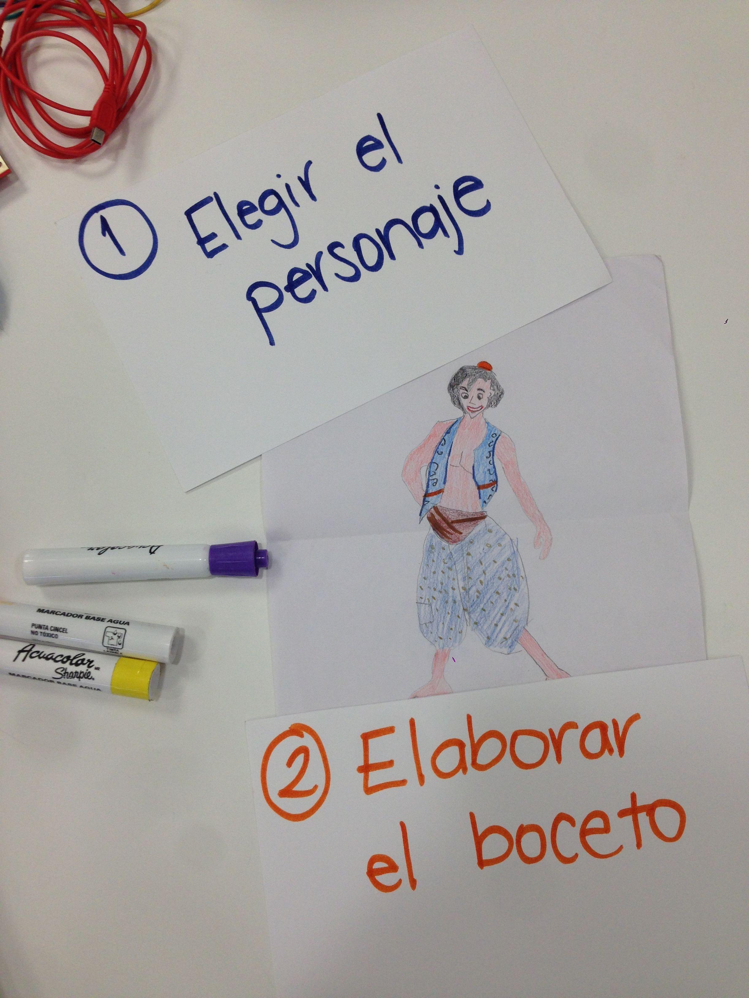Picture of Elegir El Personaje Y Boceto
