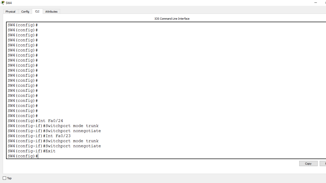 Picture of Configure the Trunk Mode