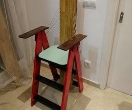 Rubbish Recliner - Step Ladder -> Seat Transformation