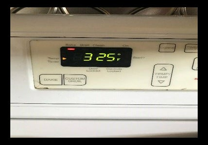 Preheat Oven to 325 Degrees Fahrenheit