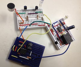 A simple clap switch using 3 different circuit modules