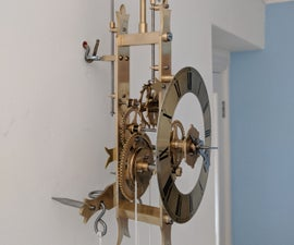 Making a Wall Hanging Brass Mechanical Alarm Clock in the Home Machine Shop