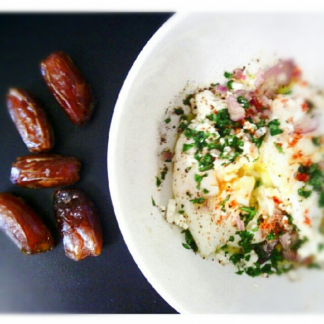 Picture of Poached Eggs With Feta and Cilantro