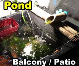 Container Patio Balcony Pond