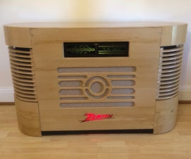 Retro Art Deco Radiogram Surround Sound Cinema Speaker
