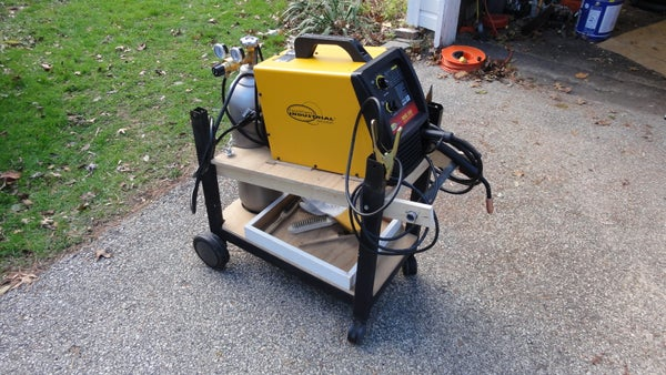 Welding (MIG) Cart From Old Gas Grill and Scraps
