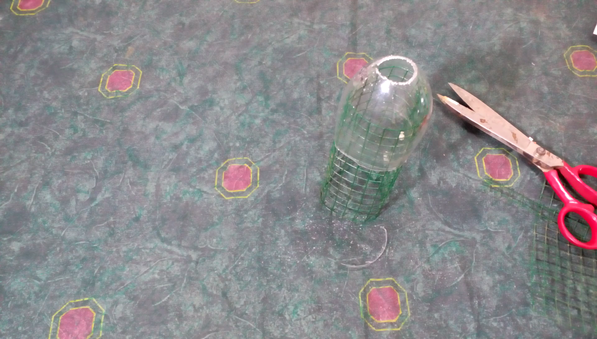 Picture of Cutting the Bottle to Make the Base