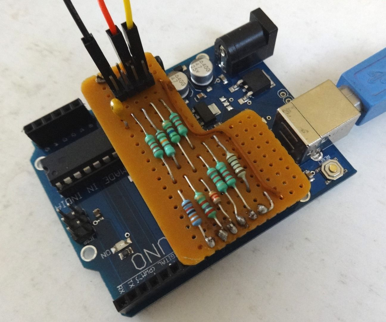 10 Resistor Arduino Waveform Generator: 8 Steps (with Pictures)
