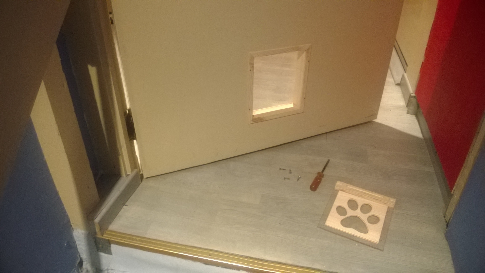 Picture of Installing the Pet Flap