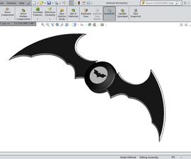 Handy Foldable Batarang-arkham-asylum- 3D model
