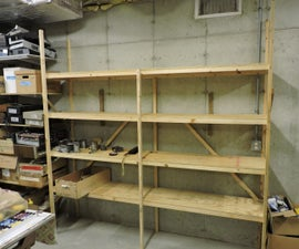 Different Take on Quick, Inexpensive Plywood and 2x4 Shelves